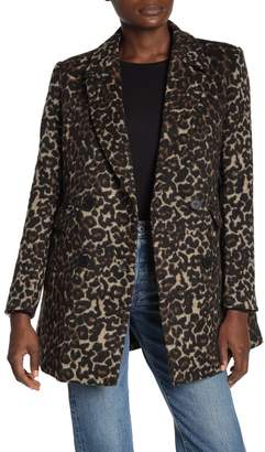 DOLCE CABO Double Breasted Leopard Trench Coat