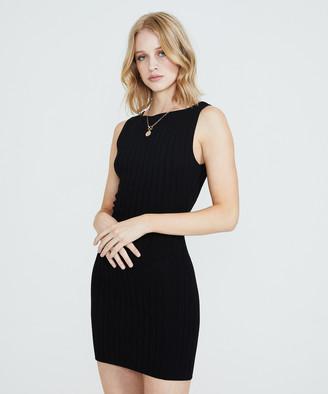 Alice In The Eve Paulina Sheer Knit Dress Black