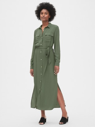 Gap Perfect Maxi Shirtdress