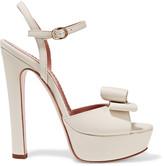 RED Valentino Embellished leather platform sandals