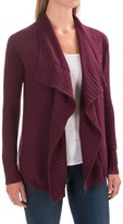 Lilla P Open Cardigan Sweater - Cotton-Cashmere (For Women)
