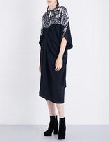 Chalayan Draped woven midi dress