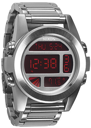 Nixon The Unit Sterling Silver Watch