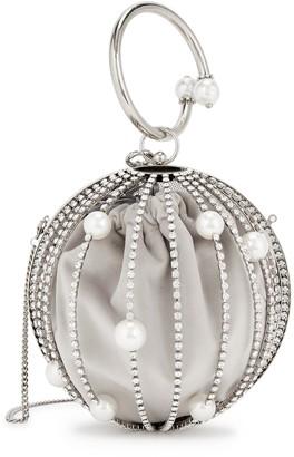 Rosantica Ruby crystal-embellished top handle bag