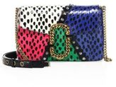 Marc Jacobs St. Marc Snakeskin, Python & Leather Clutch
