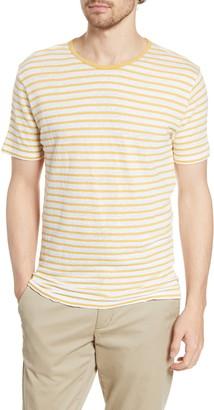 Hartford Stripe Linen & Cotton T-Shirt