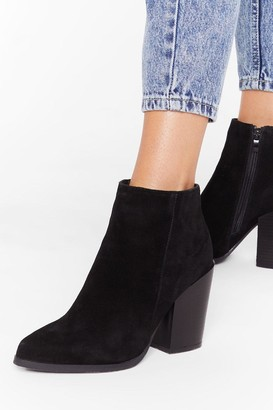 Nasty Gal Womens Don't Stand For It Faux Suede Ankle Boots - black - 3