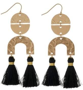 mimis Mimi's Gift Gallery Black Tassels Earrings