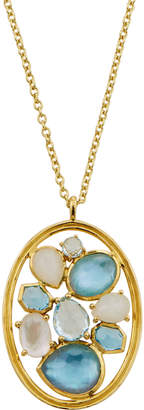 Ippolita Rock Candy 18k Oval Mixed-Stone Pendant Necklace, Raindrop