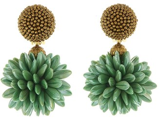 Oscar de la Renta Cluster Earrings