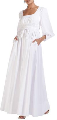 STAUD Juliette Square-Neck Maxi Dress
