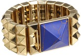 House Of Harlow Pyramid Bracelet (Gold/Lapis Station) - Jewelry