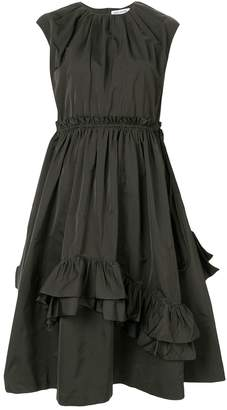 Dice Kayek asymmetric ruffle shift dress
