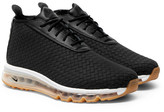 Nike Faux Leather-Trimmed Woven Sneaker Boots