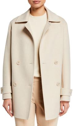 Loro Piana Cashmere Double-Breasted Pea Coat