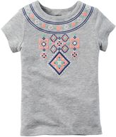 Carter's Baby Girl Cross-Stitch Graphic Tee