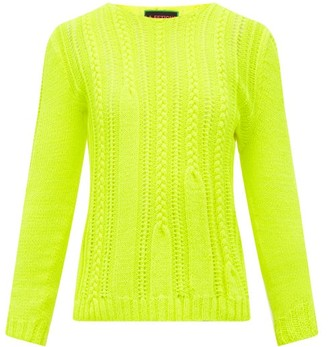 La Fetiche - Ivy Shrunken-style Wool Sweater - Yellow