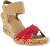 White Mountain Espadrille Wedges w/ Gored Strap - Laugh Line