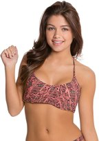 Red Carter Python Racer Back Bikini Top 8124189