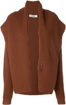Jil Sander ribbed open cardigan