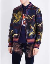 Gucci Oriental satin jacquard bomber jacket