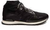 Oamc Marathon mid-top leather-trimmed trainers
