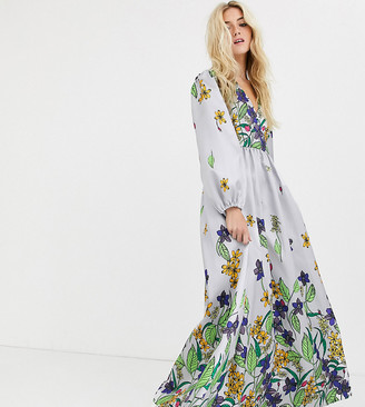 Desree Akorahson maxi dress with floral border print