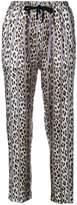 Forte Forte leopard print striped trousers