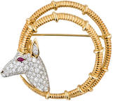 Tiffany & Co. Schlumberger Diamond Ibex Brooch