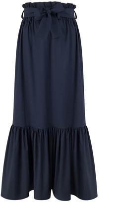 Monica Nera Cindy Navy Maxi Skirt