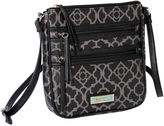 Waverly Lattice Double Zip Crossbody Bag
