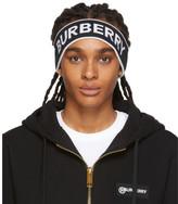 Burberry Black and White Branded Headband