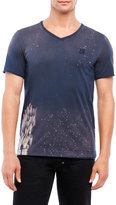 Cult of Individuality V-Neck Splatter Tee