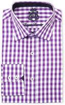 English Laundry Purple Gingham Classic Fit Dress Shirt