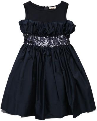 MonnaLisa Duchesse & Cotton Jersey Party Dress