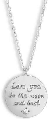 Estella Bartlett Love You to the Moon and Back Pendant Necklace