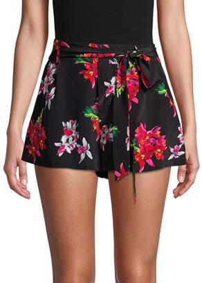 Rails Gigi Floral Silk Tie-Waist Shorts