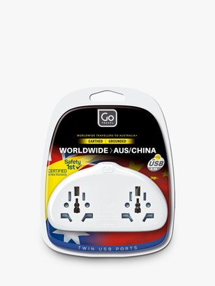 Go Travel Duo USB World to Australia/China Travel Adaptor