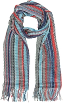Missoni Viscose and Cotton Striped Long Scarf