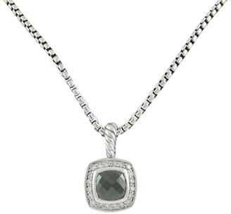 David Yurman Albion Pendant Necklace With Diamonds (Hematine)