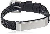 Fossil Vintage Casual Black Braided Bracelet