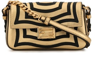 Fendi Pre Owned Baguette Catalan Mirror Hypnotic shoulder bag