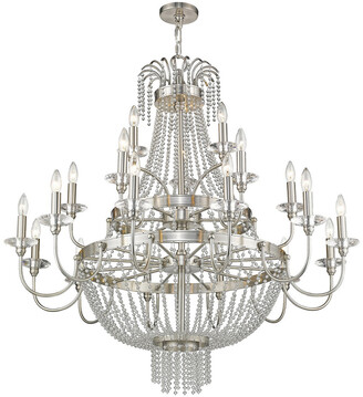 Livex Lighting Livex Valentina 21-Light Brushed Nickel Foyer Chandelier