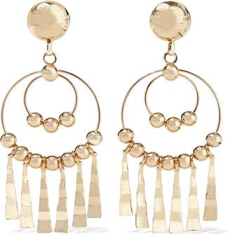 Dannijo Delancy Gold-plated Clip Hoop Earrings