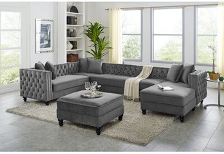Charlton Home Igikpak Right Hand Facing Sectional with Ottoman Upholstery Color: Gray