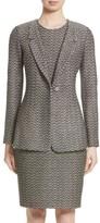 St. John Women's Aluna Speckled Chevron Tweed Knit Jacket