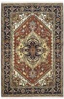 Ecarpetgallery Hand-knotted Serapi Heritage Medallion Corners 4' x 6' 100% Wool area rug