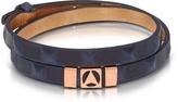 Northskull Jibiti Blue and Rose Gold Double Wrap Bracelet