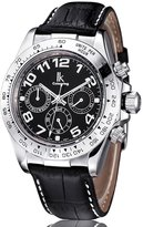 IK Colouring GuTe IK Luxury Silver Luminous men's Automatic Mechanical Watch Screw-down-Crown