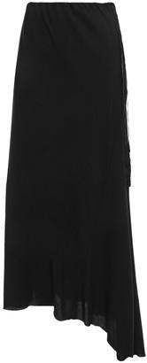 Ann Demeulemeester Ruth Asymmetric Twill Maxi Skirt